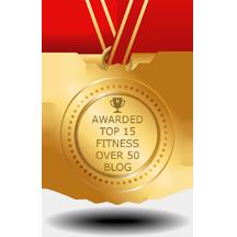 fitness over 50 blog award